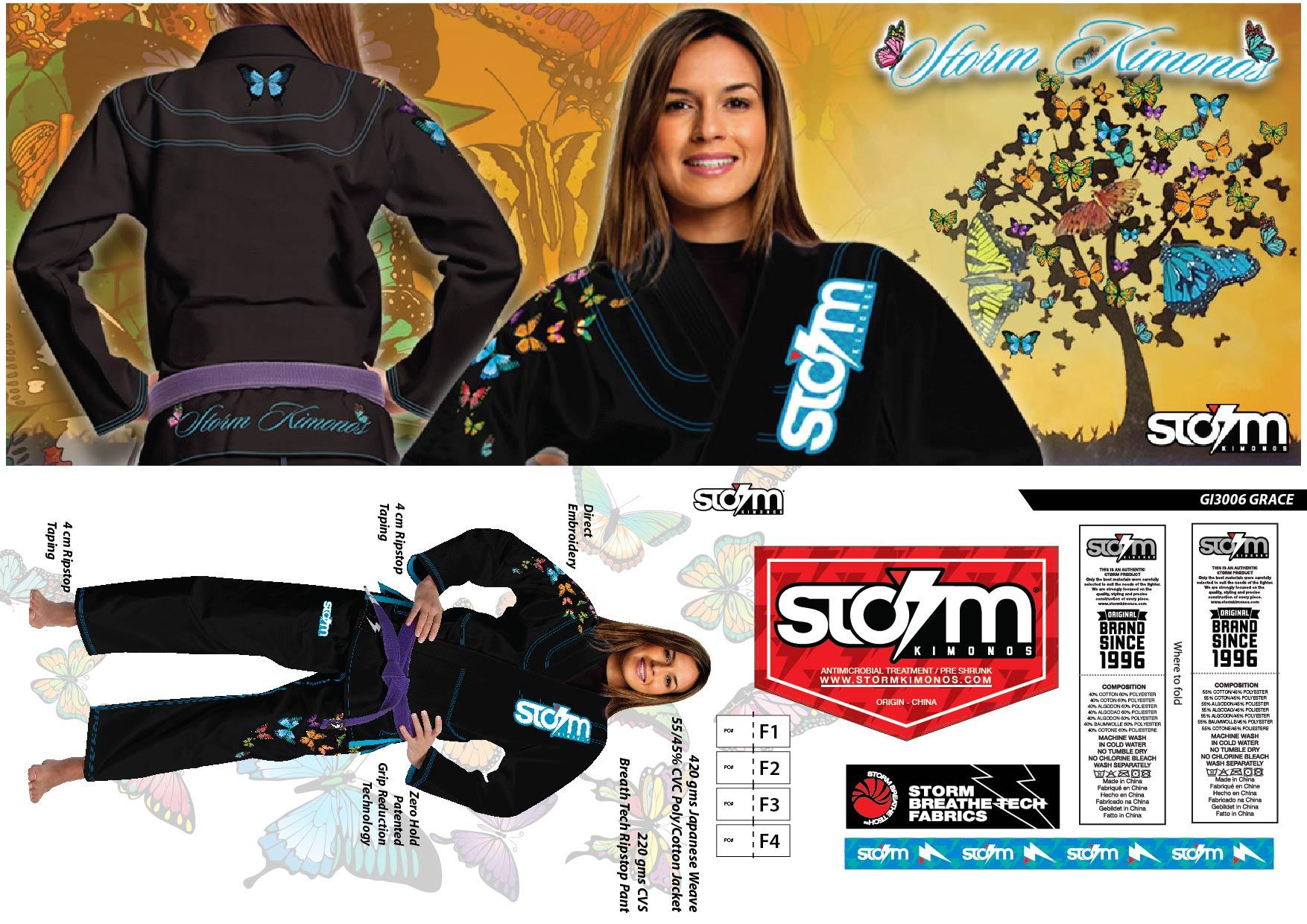 2 GI3006 STORM Kimonos® Grace - Blk