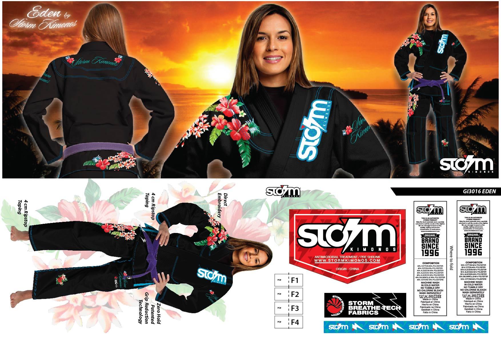 4 GI3016 STORM Kimonos® Eden - Blk