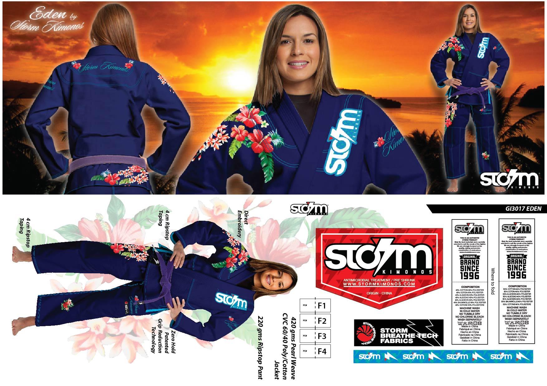 5 GI3017 STORM Kimonos® Eden - B